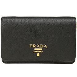 PRADA 普拉达 女士黑色牛皮单肩斜挎包 1BP006 NZV F0002 V COO