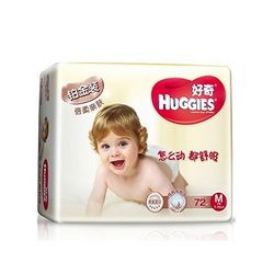 HUGGIES 好奇 铂金装 婴儿纸尿裤 M72+4片 *6件