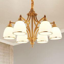 富戈 美式全铜6头吊灯 配LED灯泡 +凑单品