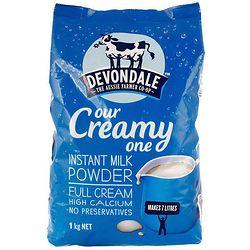 Devondale 德运 全脂成人奶粉 1kg *3件