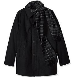 Dockers harrison 男士羊毛混纺围巾外套