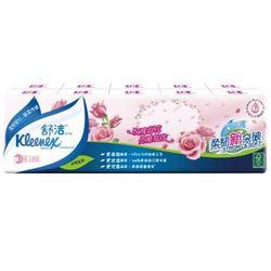 Kleenex 舒洁 迷你手帕纸 3层10包 玫瑰印花 *35件 +凑单品