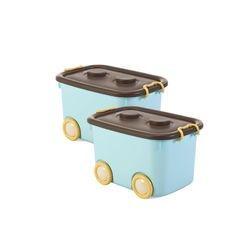 当当优品 带滑轮车型儿童玩具整理箱 50L*2个 *3件