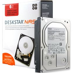 HGST 昱科 H3IKNAS400012872SWW 7200转 128MB SATA3 NAS硬盘 6TB