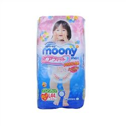 moony 尤妮佳 女婴用拉拉裤 L44片 *4件