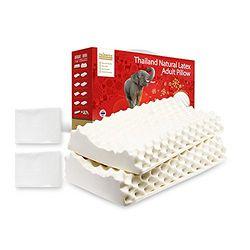 TAIPATEX 天然乳胶枕头家庭套装 (按摩舒适减压枕*2+丝棉枕套*2)
