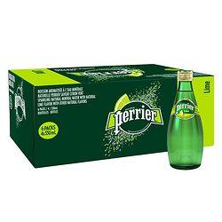 Perrier 巴黎水 含气天然矿泉水(青柠味)玻璃瓶装 330ml*24瓶