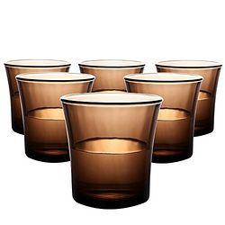 DURALEX 多莱斯 水杯 咖啡色 210ml 6只装