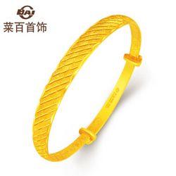 CBAI 菜百首饰 9AAB0234 足金磨砂条纹手镯 约29.98克