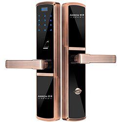ARROW 箭牌 A618 指纹锁家用智能密码锁 红古铜