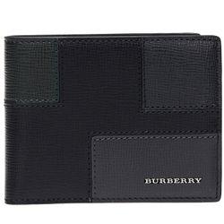 BURBERRY 博柏利 40225751 男士短款镶拼牛皮钱包