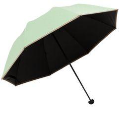 天堂伞 UPF50+ 黑胶丝印点花 三折蘑菇晴雨伞 *2件