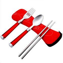 唐宗筷 T360 便携不锈钢餐具套装 *2件