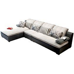 MZL 美姿蓝   L形客厅沙发 可拆洗布艺  贵妃位+单人位+双人位