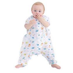 misslele 米乐鱼 婴儿纱布短袖分腿睡袋 *2件