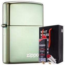 ZIPPO 之宝 28129ZL 打火机套装礼盒 变色龙绿冰(火机+小油133ml+火石6粒装) *2件