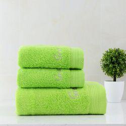 grace 洁丽雅 纯棉素色毛巾浴巾三件套 共745g +凑单品