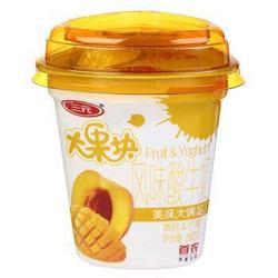 SANYUAN 三元 大果块风味发酵乳 黄桃&芒果酸奶 260g *22件