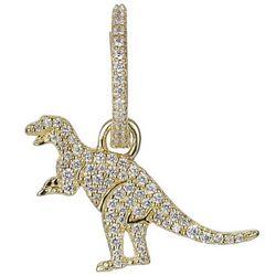 apm MONACO WONDERLAND系列 AE10238OXY 不对称金黄色银镶晶钻恐龙耳环 *2件 +凑单品
