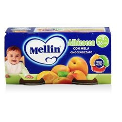 Mellin 美林 杏子苹果泥 100g 2罐装 *9件