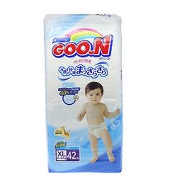 GOO.N 大王 婴儿纸尿裤 XL42片 *4件