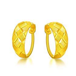 China Gold 中国黄金 GA0E074 足金弧形耳环 3.67g【已结束】