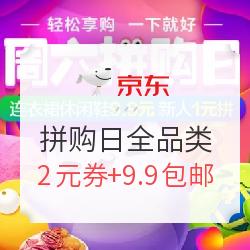京东 拼购日全品类促销