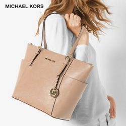 MICHAEL Michael Kors Jet Set East West 女士真皮单肩包(中号)