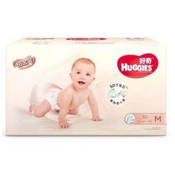 HUGGIES 好奇 铂金装 婴儿纸尿裤 小号 M92