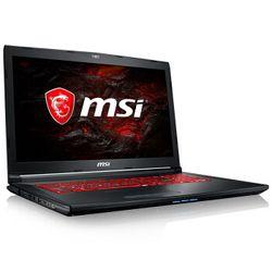 msi 微星 GL62M 7RDX-1286CN 17.3英寸游戏笔记本电脑(i7-7700HQ、8GB、1TB+128GB、GTX1050 4GB)