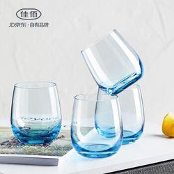 佳佰 海蓝色玻璃杯 4个装 *3件