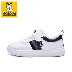 BoB DoG 巴布豆 儿童运动休闲小白鞋