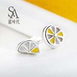 Silverage 银时代 柠檬初上系列 S925银耳钉