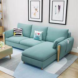 A家家具 布艺沙发组合 三人位+贵妃位