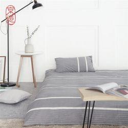京造 水洗棉条纹四件套 1.5米床  +凑单品