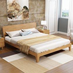 伊林雅 日式橡木卧室家具(1.5m架子床+床头柜*1+床垫)