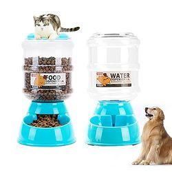 Food Water 宠物 自动喂食器 自助饮水器 两件套