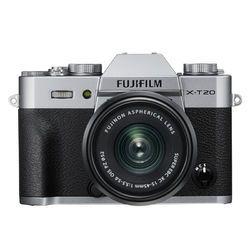 FUJIFILM 富士 X-T20(15-45mm镜头) APS-C画幅无反相机套机 银色