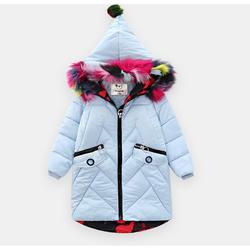 binpaw 女童 冬装长款皮棉衣 *3件