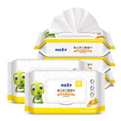 FROGPRINCE 青蛙王子 婴儿湿巾 80抽*5包 湿纸巾 *3件
