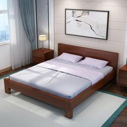伊林雅 北欧实木双人床 1.5*2m 架子床