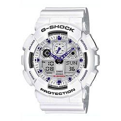 CASIO 卡西欧 G-SHOCK GA-100A-7A 男款防磁双显腕表 *2件