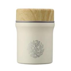 当当优品 格林木纹系列 焖烧杯 380ml 米白