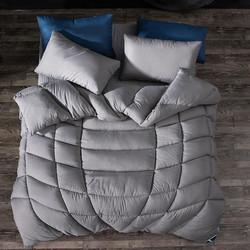 当当优品 保暖羽丝绒冬被春秋被芯 单人被子150*200cm 灰色