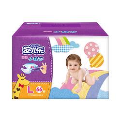 Anerle 安儿乐 薄薄小轻芯 婴儿纸尿裤 L 66片  *5件