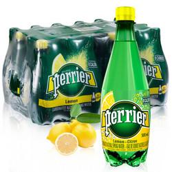 perrier 巴黎水 气泡矿泉水 柠檬味 500ml*24瓶 *3件