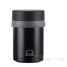 LOCK&LOCK 乐扣乐扣 真空焖烧罐 不锈钢保温杯 便携保温壶 350ML 黑色