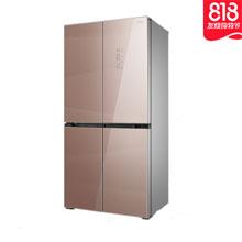 【苏宁818】美菱 十字对开门多门冰箱 0.1度变频 钢化玻璃面板