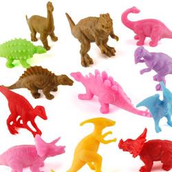 简乐 侏罗纪恐龙玩具套装 12只装