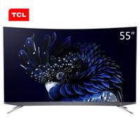 TCL 55Q960C 55英寸 4K 量子點 曲面液晶電視